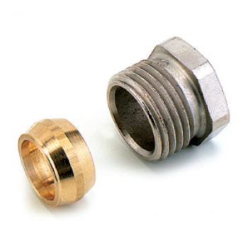 COMPRESSION FITTINGS NICKEL PLATED FOR COPPER PIPES