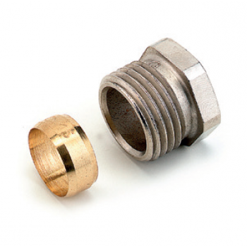 COMPRESSION FITTINGS NICKEL PLATED FOR PE X & PB PIPES
