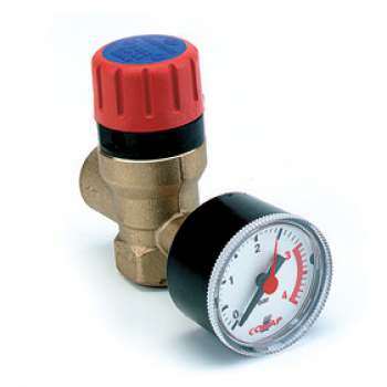 SAFETY VALVE FEMALE WITH RESSURE GAUGE