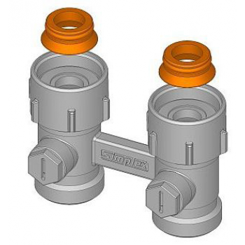 """ADAPTOR FOR RADIATORS WITH CONNECTION 3/4"""" MALE"""