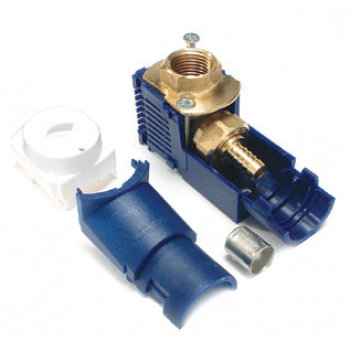 JUNCTION BOX WITH COMPRESSION FITTING
