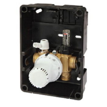RETURN TEMPERATURE LIMITER WITH AIR VENT AND FLOW METER