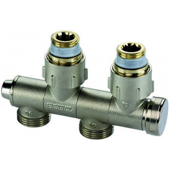 CENTRAL DISTRIBUTION  ORIENTABLE  VALVE FOR 2 PIPE SYSTEMS
