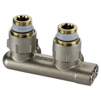 CENTRAL DISTRIBUTION REVERSED FLOW ANGLE VALVE FOR 2 PIPE SYSTEMS