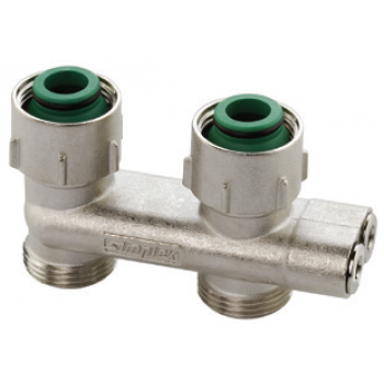 CENTRAL DISTRIBUTION REVERSED FLOW STRAIGHT VALVE FOR 2 PIPE SYSTEMS