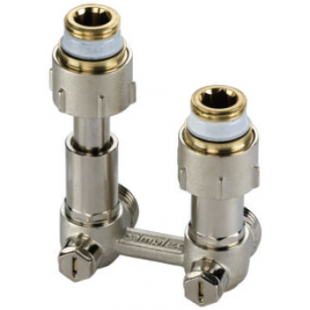 CENTRAL DISTRIBUTION ADJUSTABLE ANGLE VALVE FOR 2 PIPE SYSTEMS