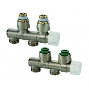 CENTRAL DISTRIBUTION  ORIENTABLE THERMOSTATIC VALVE FOR 2 PIPE SYSTEMS