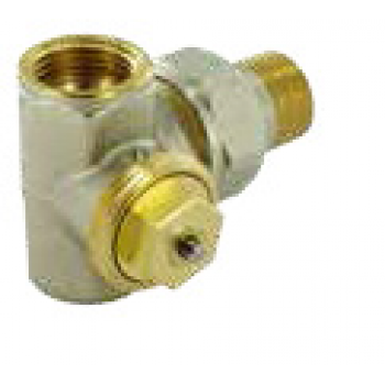 THERMOSTATIC VALVE M28 , DOUBLE ANGLE , FEMALE THREAD
