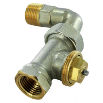 THERMOSTATIC VALVE M28 FIXED KV , STRAIGHT, FEMALE THREAD WITH ELBOW